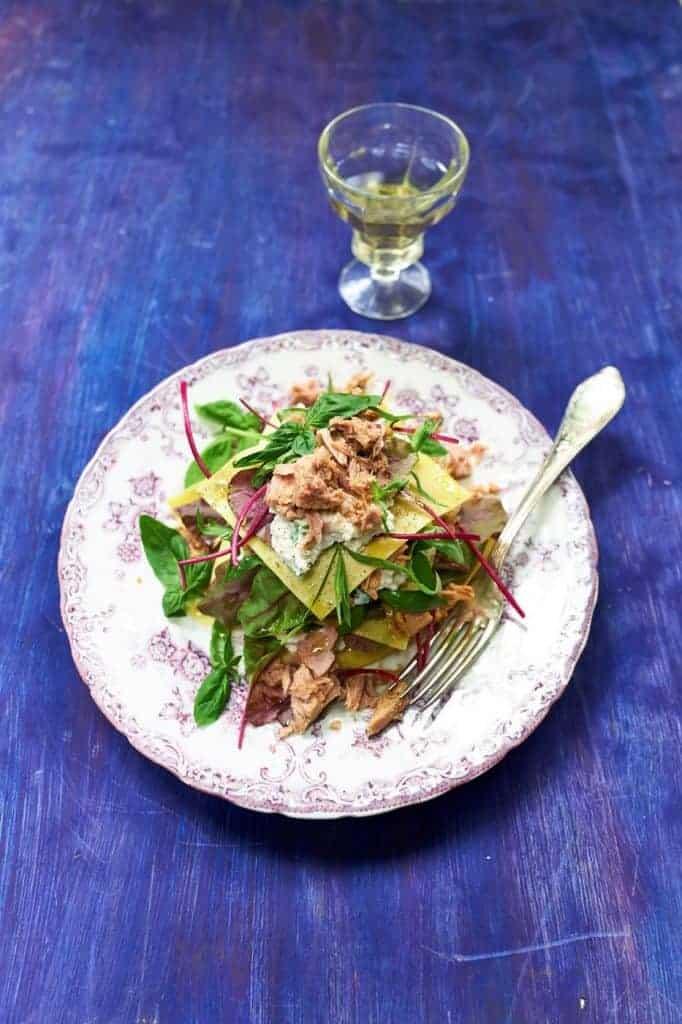 Lasagnesalade tonijn